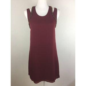 Rebecca Minkoff Merlot Beaded Silk Keri Dress